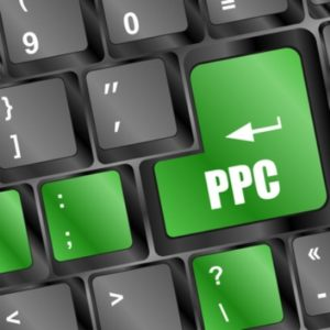 ppc button in green on computer keyboard