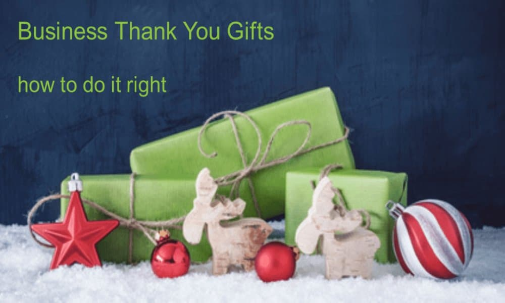 'Thank you' business gifts – how to tick the boxes