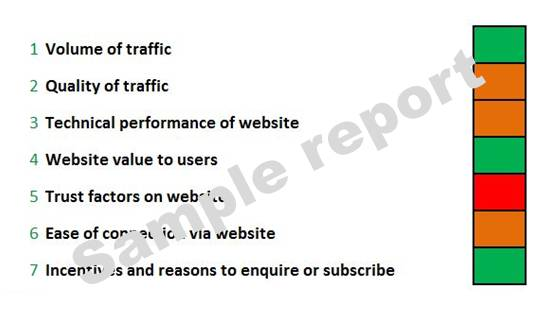 image of sample report for DIY website assessment