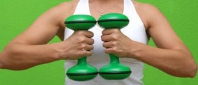 photo of dumbbells symbolising hard work your website has to do