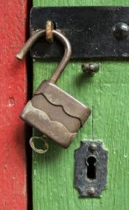 unlocked door