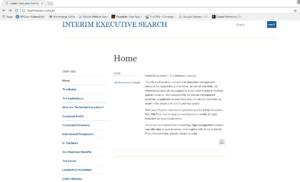 screenshot of a website home page which is pure text