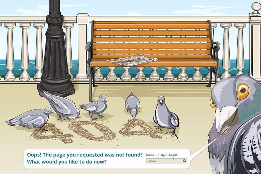 Image of curious pigeons like people who might visit your old image