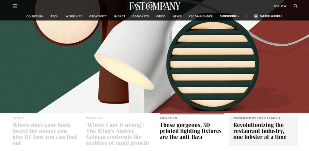 fastcompany-website-homepage-screenshot