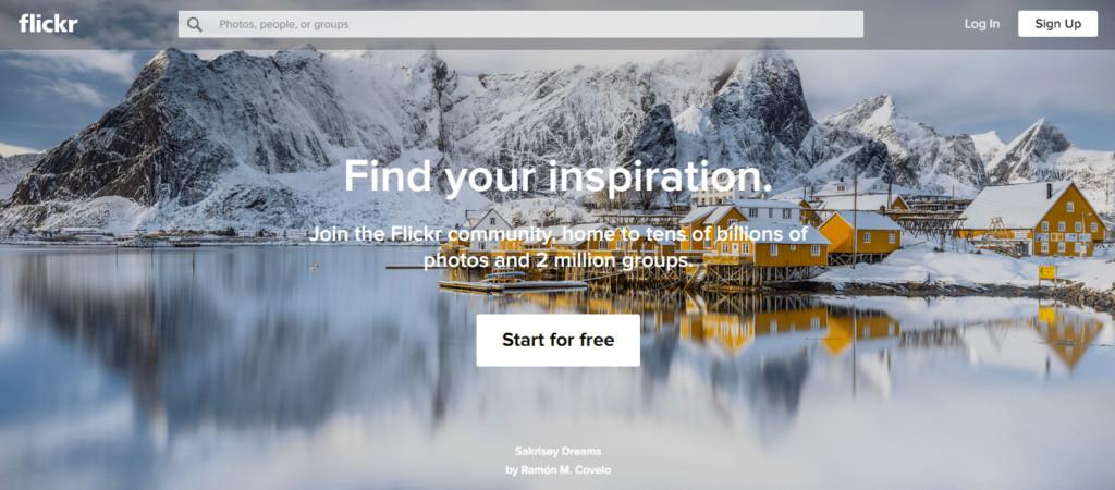 flickr-homepage-screenshot
