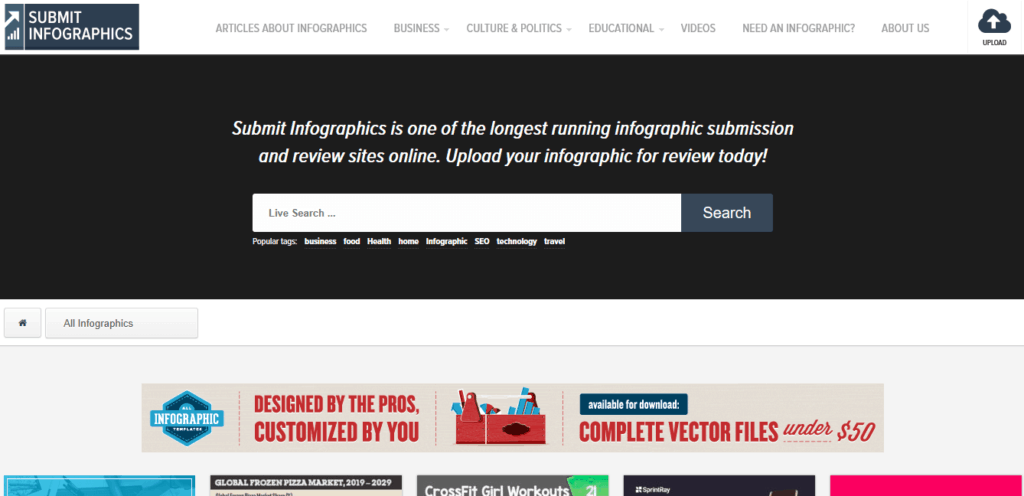 submit-infographics-homepage-screenshot