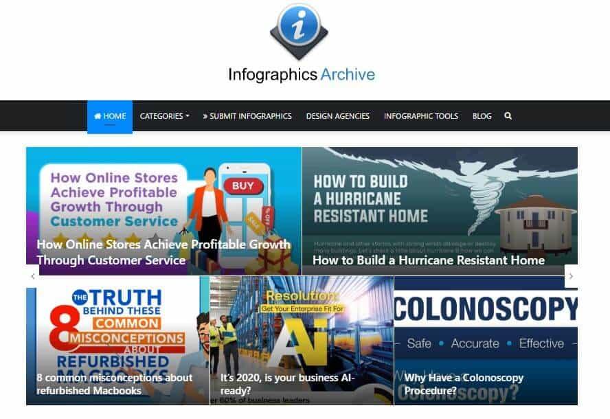 infographic-archive-homepage-screenshot