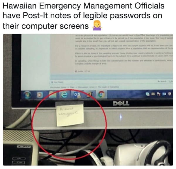 Hawaiian-Emergency-Management-Officials-password-posted-on-computer-screen