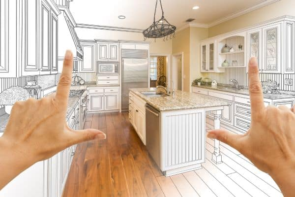 Example kitchen renovation - Facebook advertising can work for high ticket items