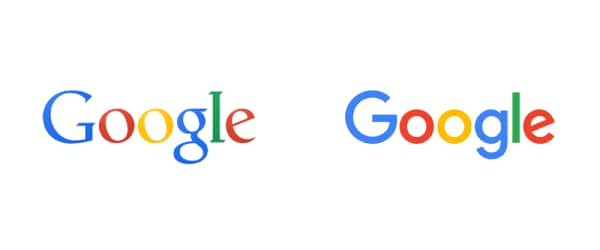 Google logo transformation