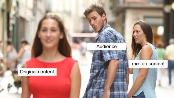 meme about writing original blog content