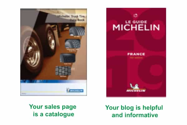 Michelin-sales-page-vs-blog