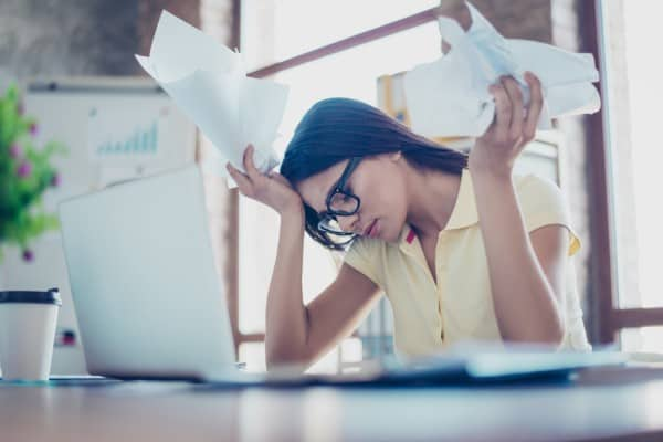 stressed person image - don't know what blog content to write