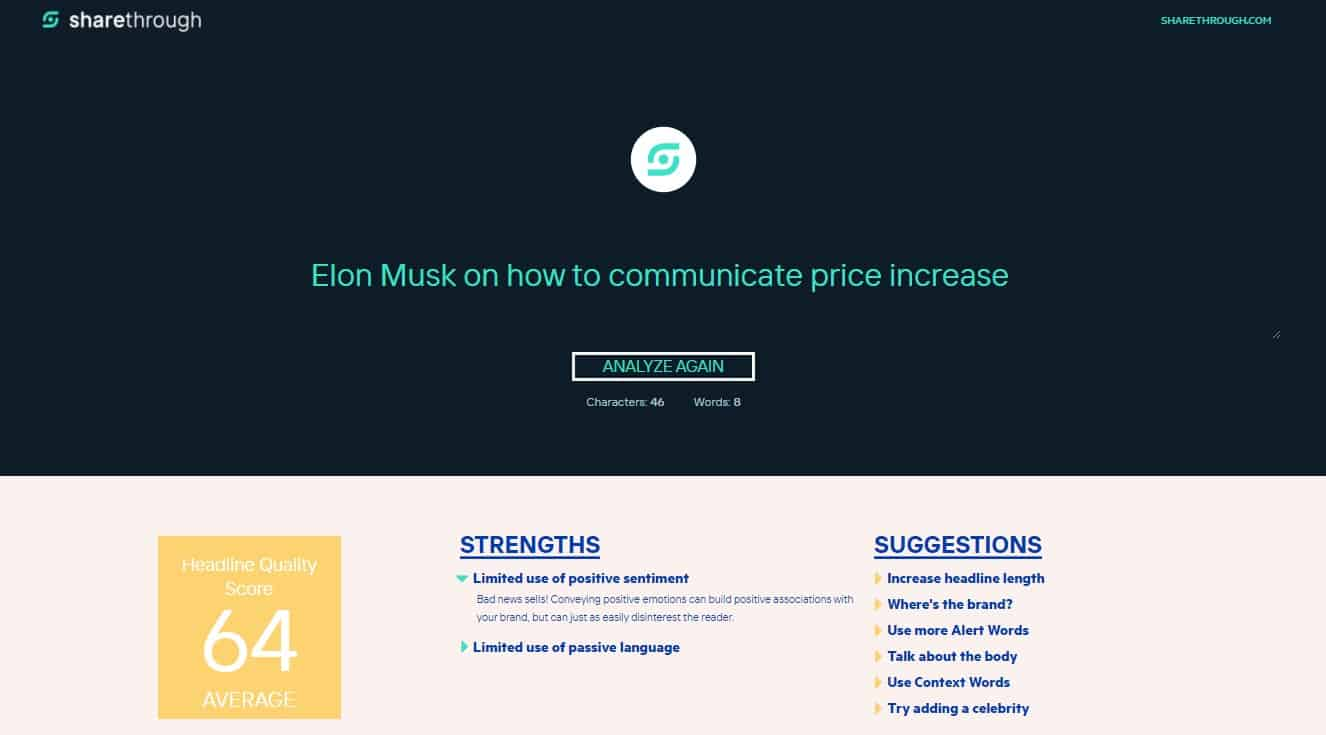 sharethrough-elon-musk-on-how-to-communicate-price-increase-result