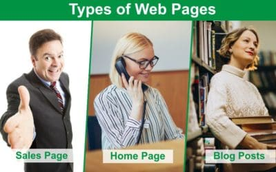 Understanding different types of web page and what they do on your site